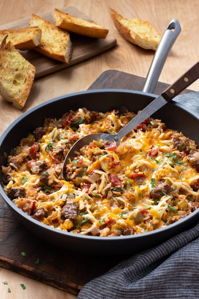 Ground Beef And Rice Skillet Cook The Story