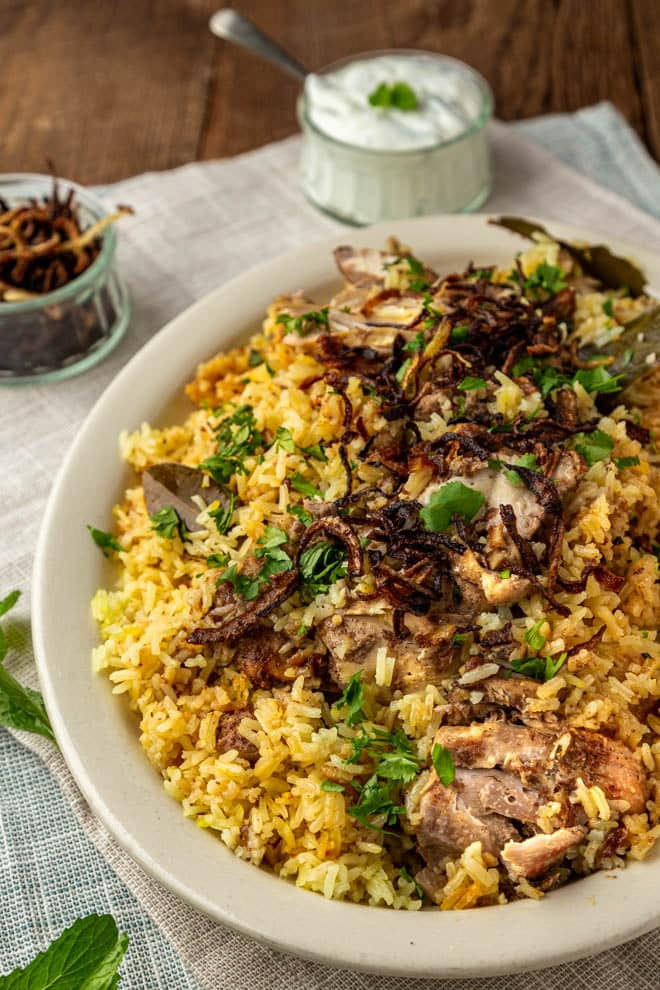 This simplified version of Chicken Biryani removes the intimidation of the elaborate dish while still leaving layers and layers of flavor.
