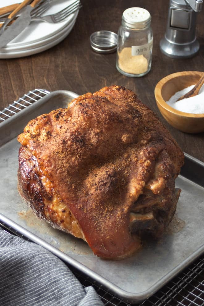 Looking for juicy, succulent pork with crisp, crackling skin? Look no further than my slow-roasted pork shoulder.