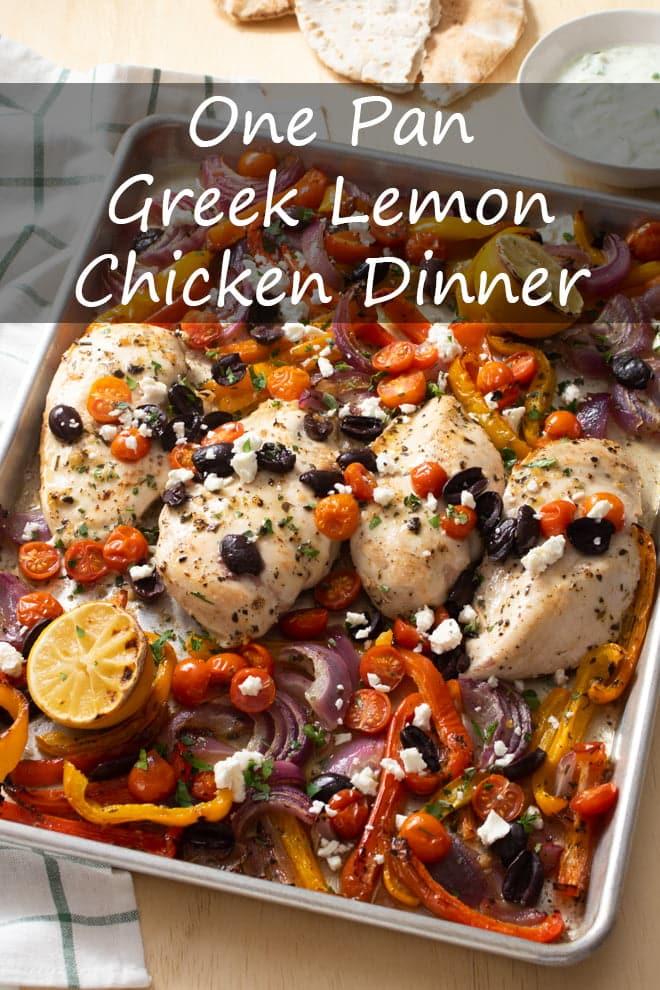 One Pan Greek Lemon Chicken Dinner
