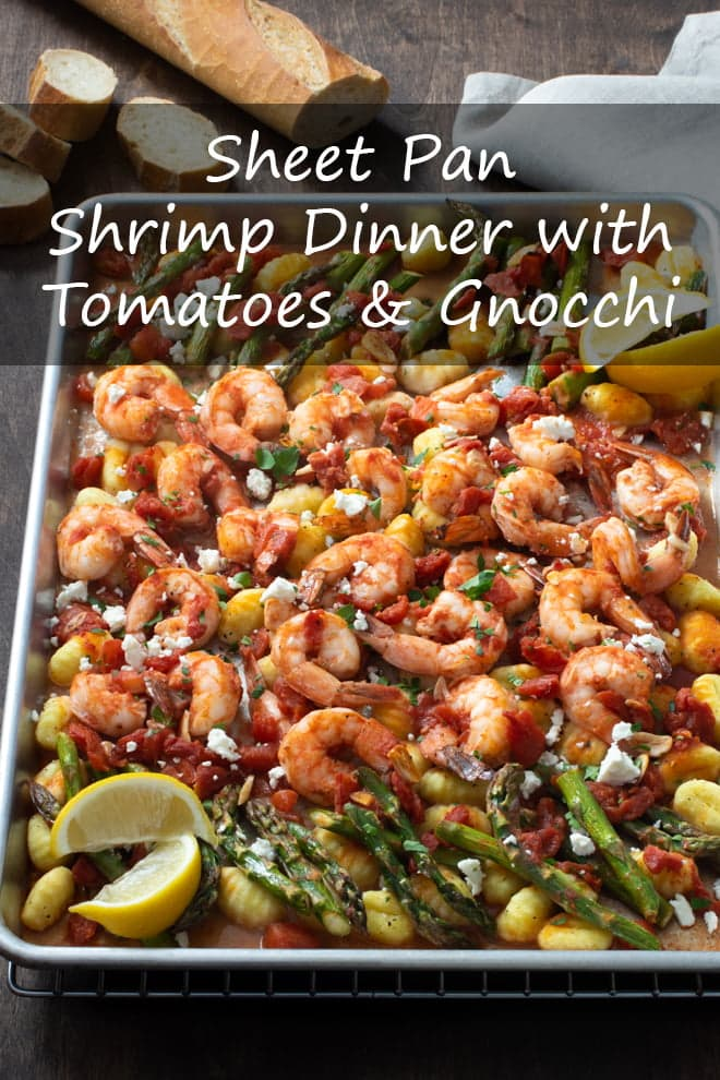 Sheet Pan Shrimp Dinner with Tomatoes and Gnocchi (No Boiling Required!)