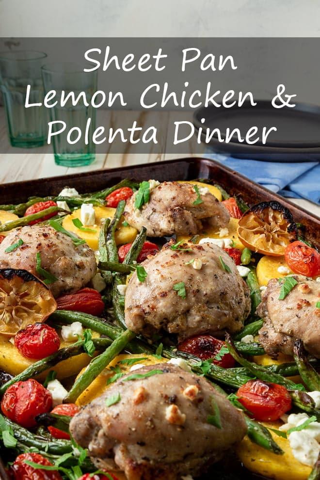 Sheet Pan Lemon Chicken and Polenta Dinner