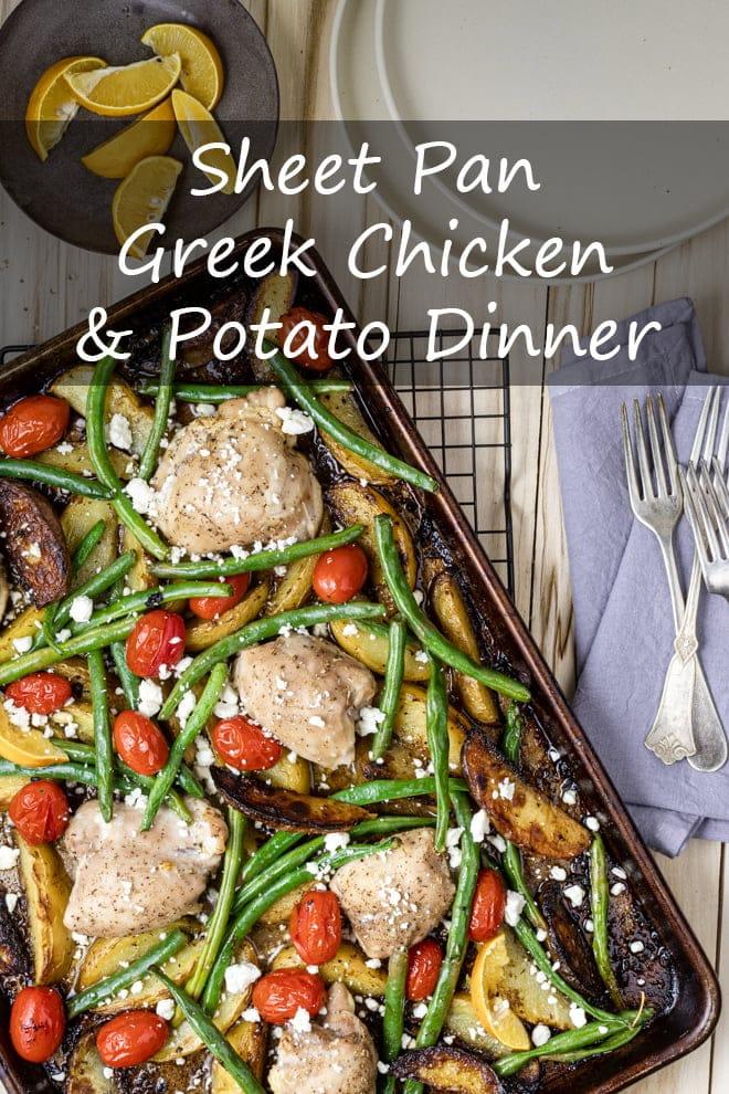 Sheet Pan Greek Chicken and Potato Dinner