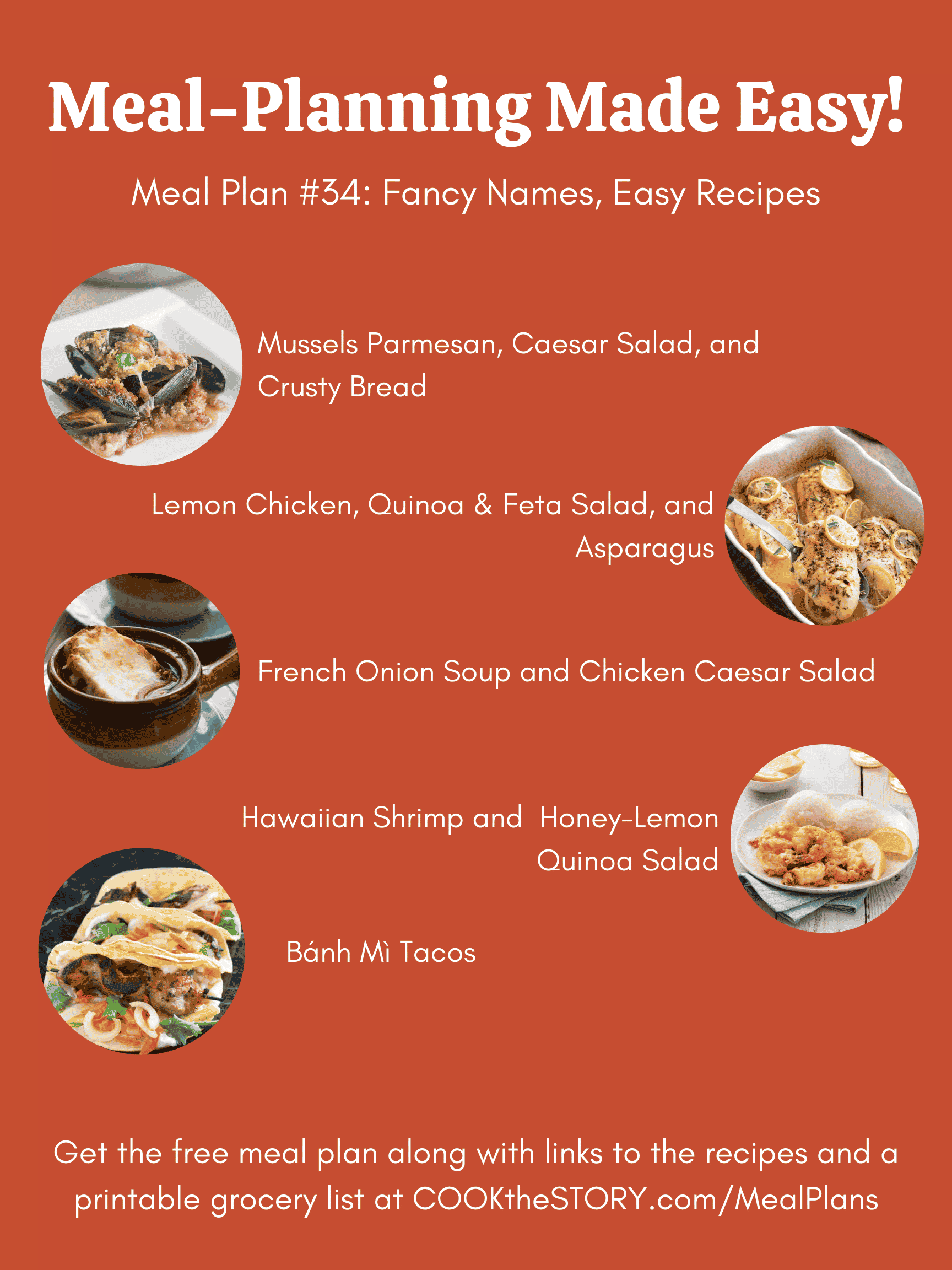 Meal Plan #34: Fancy Food Made Easy