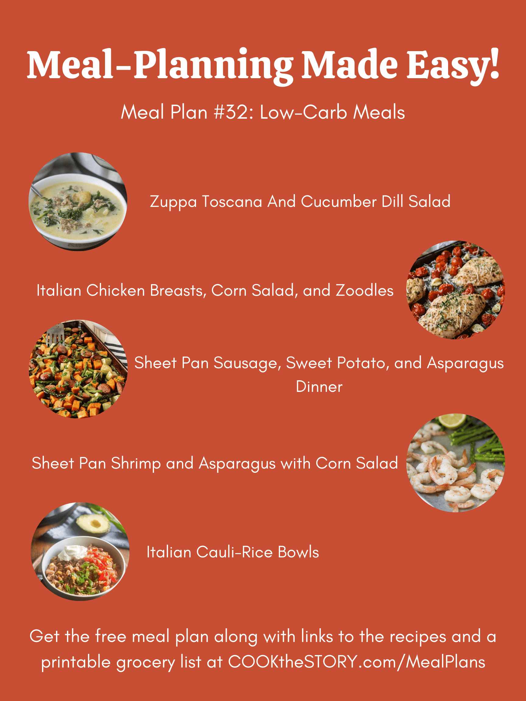 Meal Plan #32 - Lower-Carb First Steps