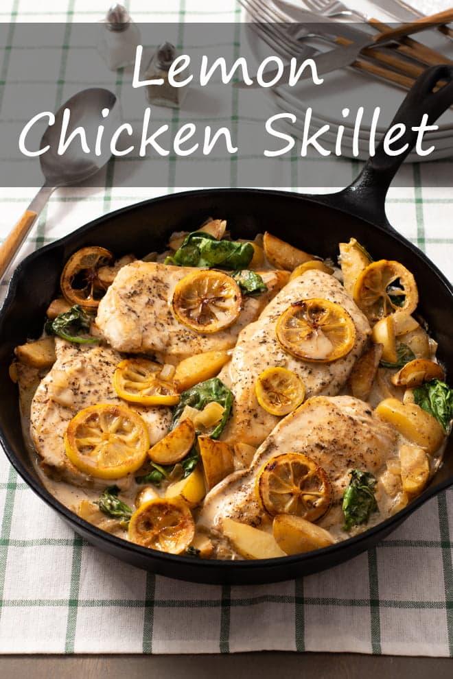 Lemon Chicken Skillet Dinner