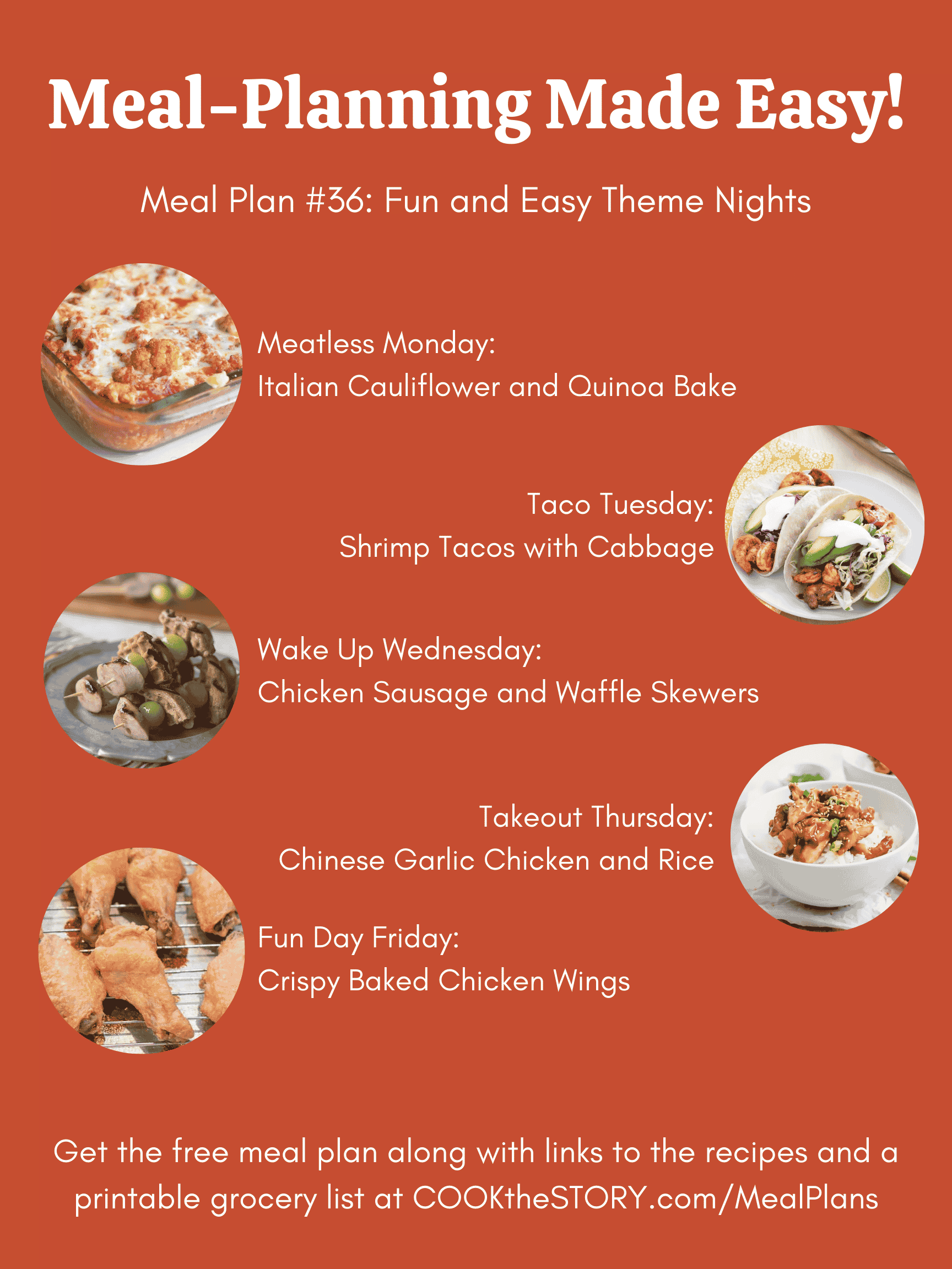 Meal Plan #36: Fun Day-Themed Meals