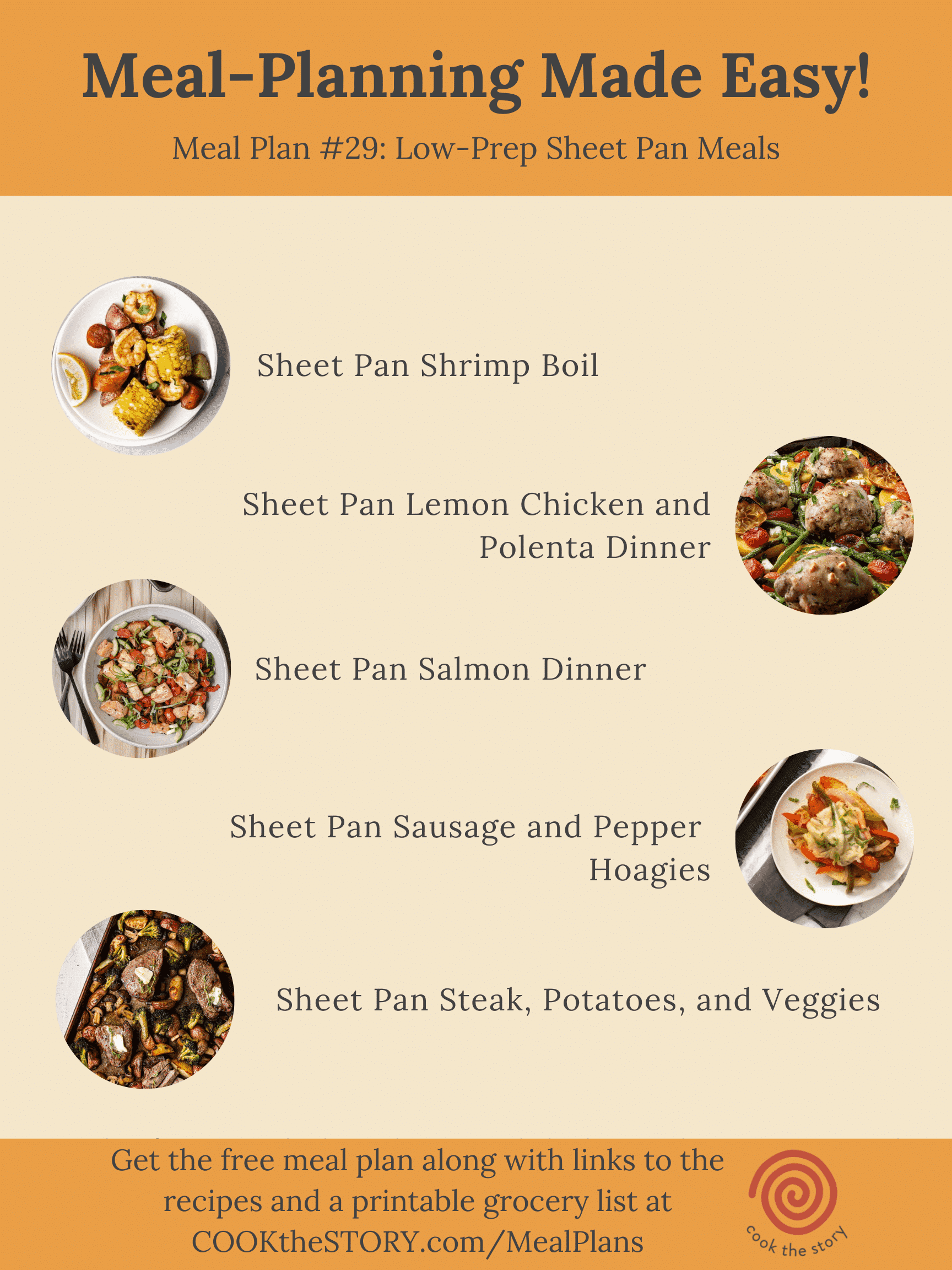 Meal Plan #29: Downsizing With One-Pan Meals