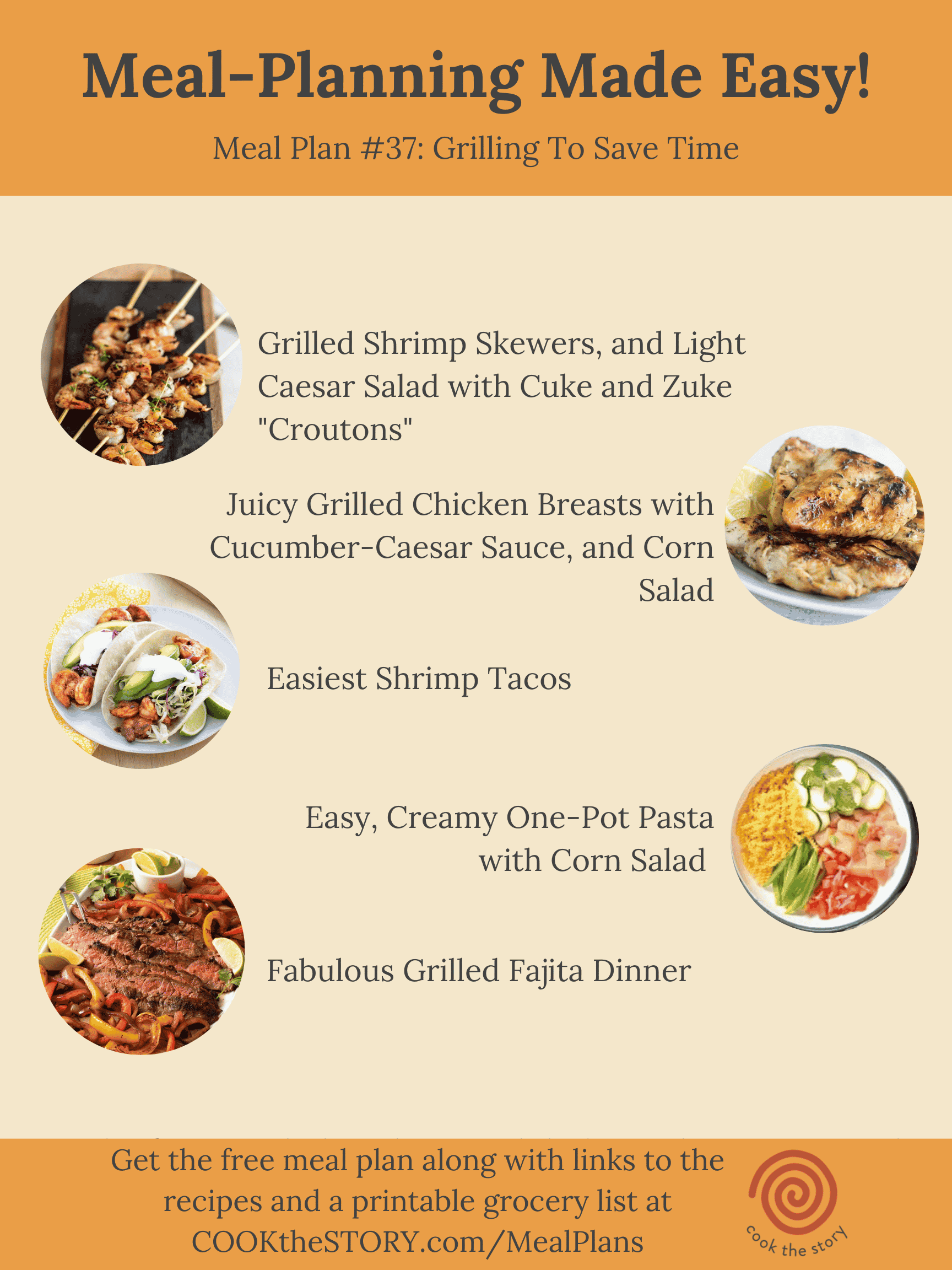 Meal Plan #37: Grilling To Save Time