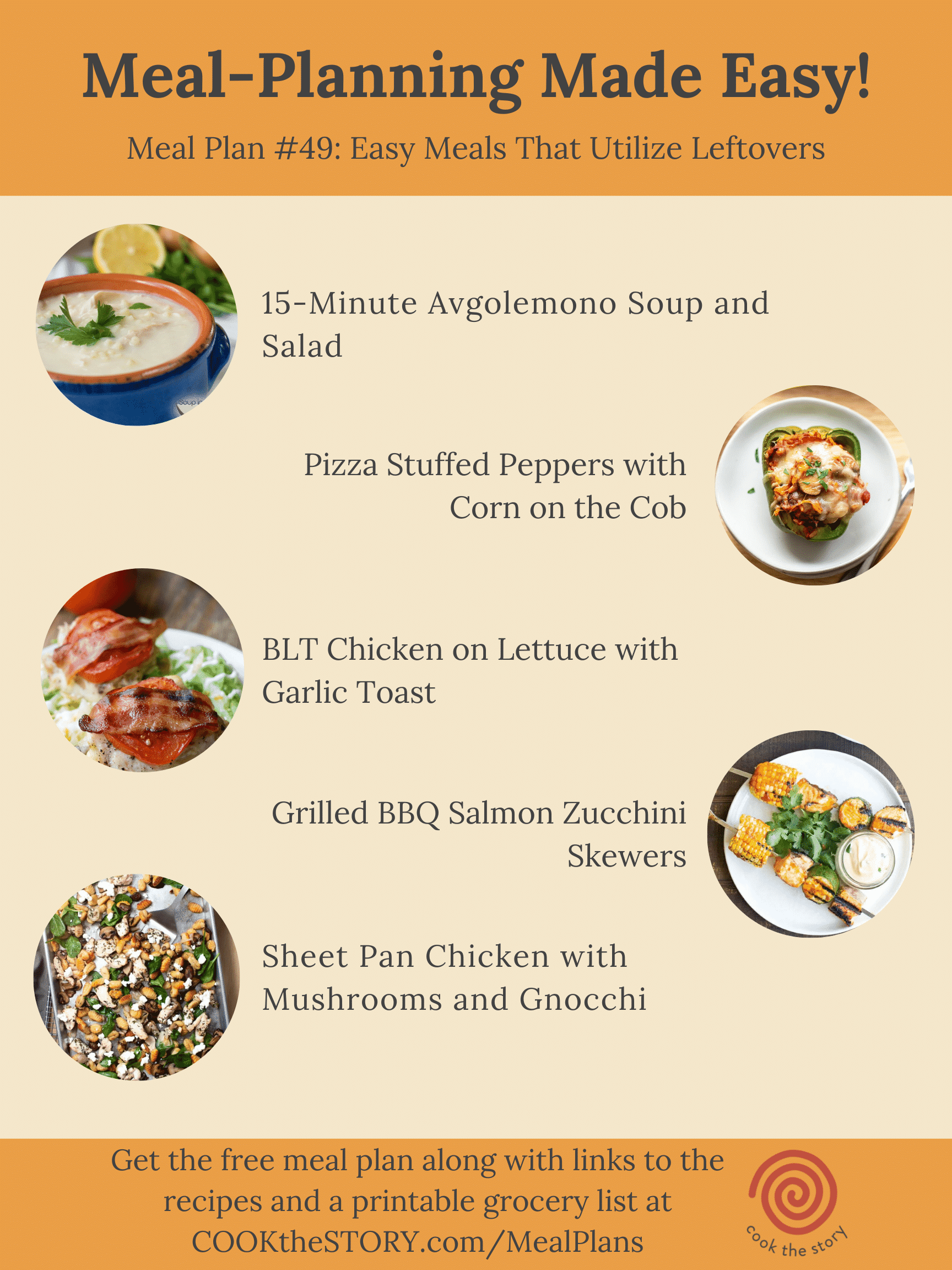 Meal Plan #49: Easy Recipes Using Leftovers